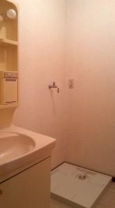 洗面台と洗濯機スペース